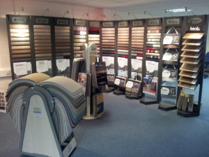 Peebles Carpets Showroom, Peebles - carpets display