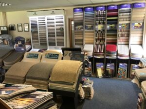Peebles carpets showroom sample books